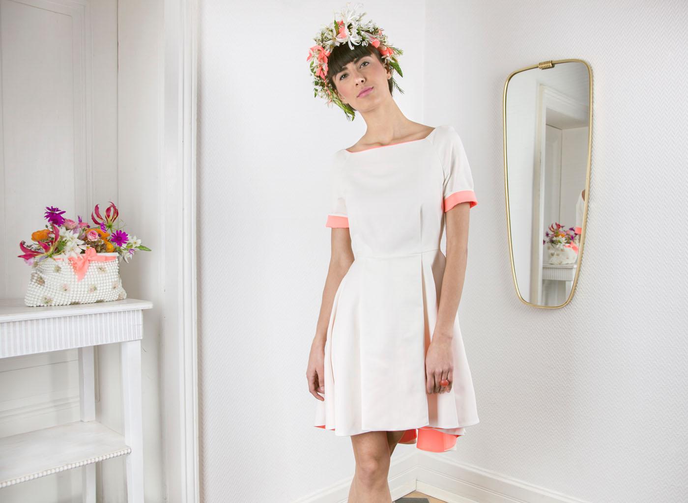 Kurzes Hochzeitskleid im Fifties-Look von Coco Lores