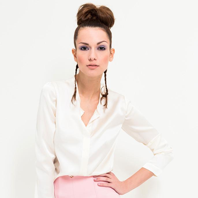 Coco Lores Seidenbluse Business Style