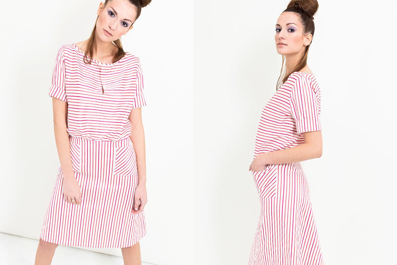 Gestreiftes Sommerkleid von Coco Lores