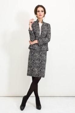 Business Mode - Klassisches Kostüm in Schwarzweiss