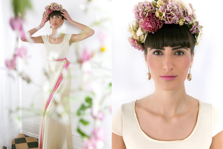 Langes Empirekleid Hochzeitskleid von Coco Lores