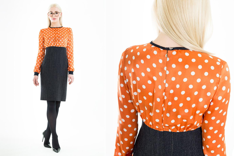 Business Bleistiftkleid mit Polka Dots von Coco Lores