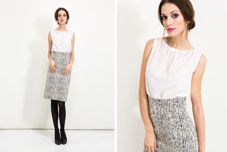 Business Outfit mit Bleistiftrock von Coco Lores