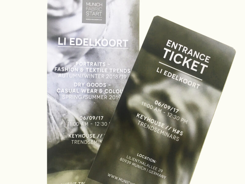 Tickets Li Edelkoort Munich Fabric Start