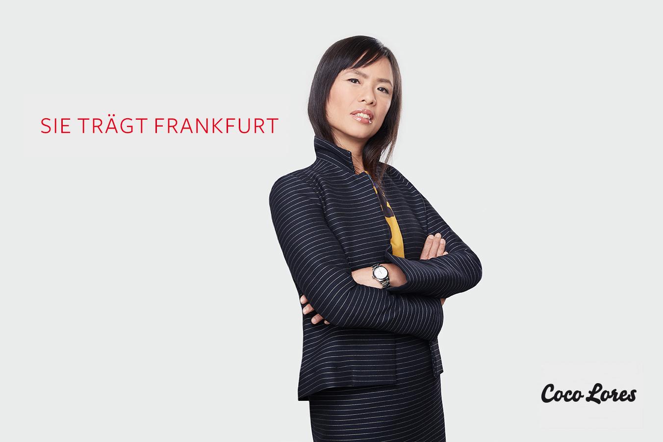 Sie trägt Frankfurt: Melinda Mokrus in Coco Lores