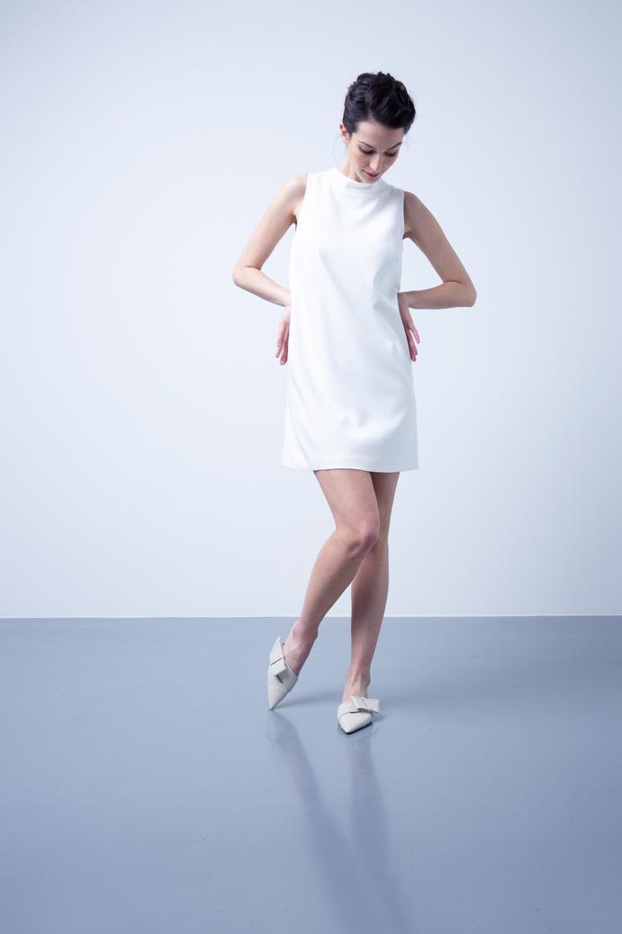 Exklusives Hochzeitskleid in Weiß für das Standesamt