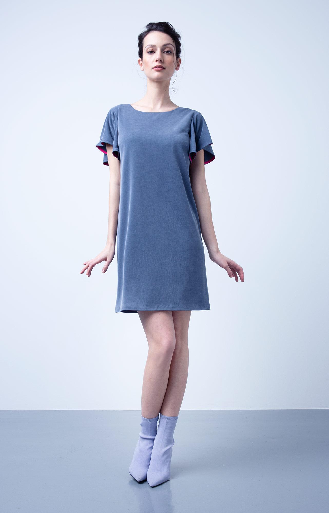 Frühjahr/Sommer Kollektion 2019 Coco Lores Sommerkleid Jeansblau