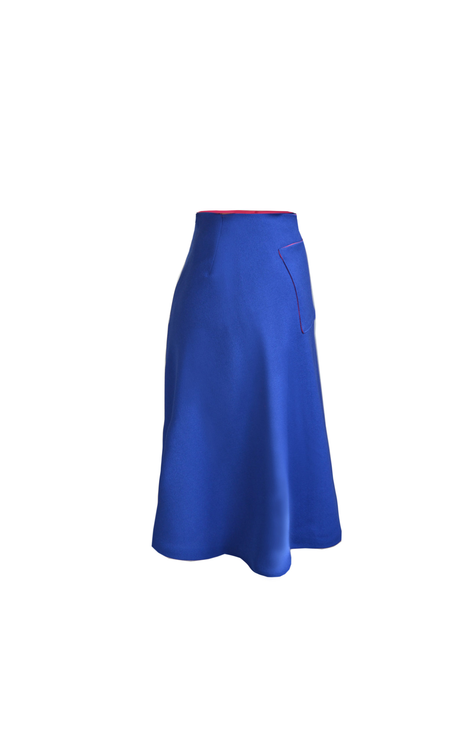 Kostümrock A-Linie Blau