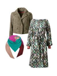 Tunikakleid mit Tweedjacke